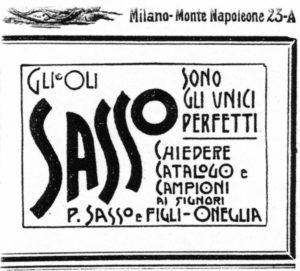 1900 - Annunci Olio Sasso