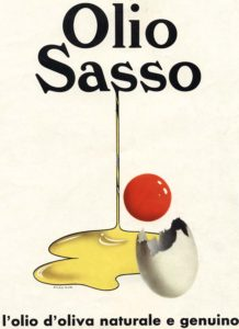 1958 annunci Olio Sasso uovo