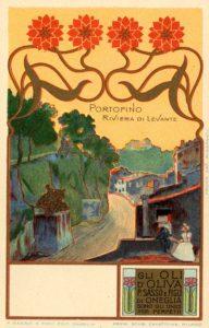 Cartoline pubblicitarie Olio Sasso Località Liguri
