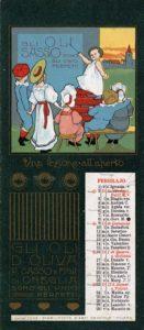 Febbraio_1902 Calendari pubblicitari Olio Sasso