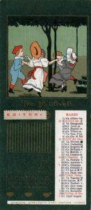 Marzo_1902 Calendari pubblicitari Olio Sasso