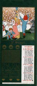 Novembre 1902 Calendari pubblicitari Olio Sasso