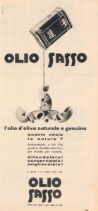 1959 annunci Olio Sasso salute