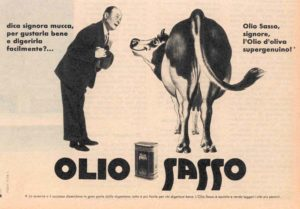 1959 annunci Olio Sasso mucca
