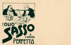 Cartoline pubblicitarie Olio Sasso