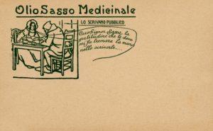 Cartoline pubblicitarie Olio Sasso Medicinale