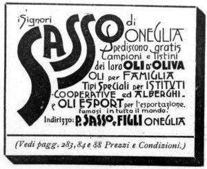 1901-1902 - Annunci Olio Sasso