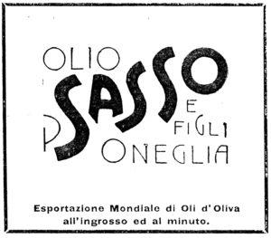 1905-15 - Annunci Olio Sasso