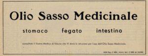 1955 annunci Olio Sasso medicinale