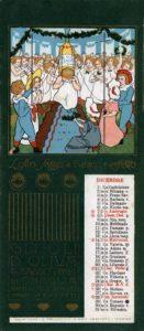Dicembre_1902 Calendari pubblicitari Olio Sasso