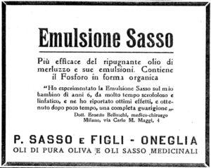 anni'10 - Annunci Olio Sasso