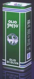 anni 80 Latta Olio Sasso
