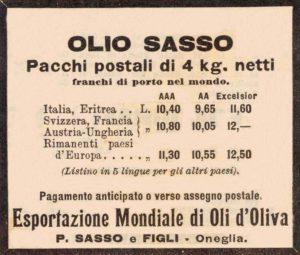 anni'10 - Annunci Olio Sasso spese spedizione